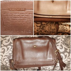 Vintage Coach Brown Leather Crossbody